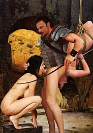 Bdsm Damian - gaius growled as his two slave cunts continued sucking his cock and ass